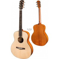 Foto van Eastman ACTG-1 Travelguitar Solid Sitka Spruce top, laminated Sapele back and sides incl. gigbag