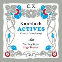 Foto van Knobloch 600KAS Sterling Silver CX Carbon snarenset klassiek High Tension