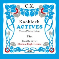 Foto van Knobloch 450KAC Double Silver CX snarenset klassiek Medium High Tension