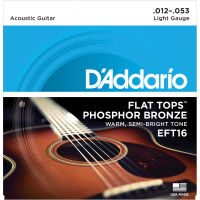 Foto van DAddario EFT16 Flat Tops Phosphor Bronze Light 012-053