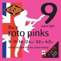 Foto van Rotosound R9-2 Roto Pinks 009-042 Super light 2-pack