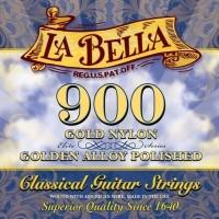 Foto van La Bella L-900 Golden Superior gold nylon trebles gold polished basses