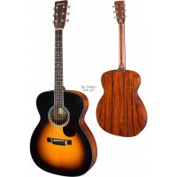 Foto van Eastman E10-OM Sunburst, Solid Adirondack spruce top, solid Mahogany back and sides incl. hardcase