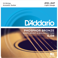 Foto van DAddario EJ38 Phosphor Bronze 12-String Light 010-047