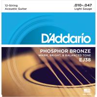 Foto van DAddario EJ38 Phosphor Bronze 12-String Light 010-047
