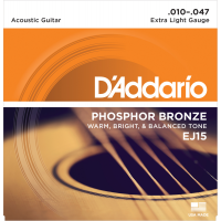 Foto van DAddario EJ15 Phosphor Bronze Extra Light Gauge 010-047