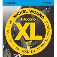 Foto van DAddario EXL180 35-55-75-95 Round Wound
