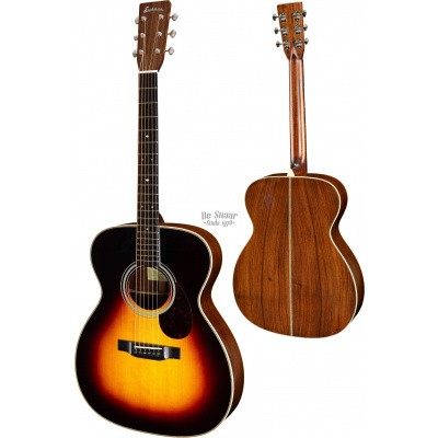 Eastman E20-OM Sunburst, Solid Adirondack spruce top, solid Rosewood back and sides incl. hardcase