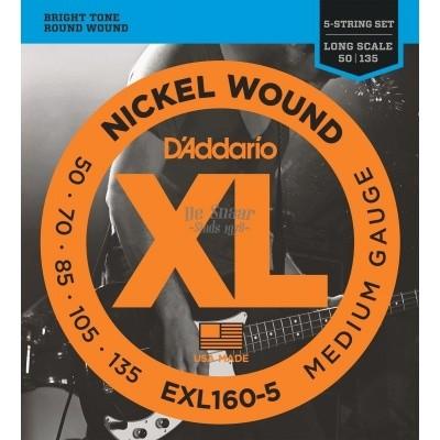 DAddario EXL160-5 Roundwound 050-070-085-105-135