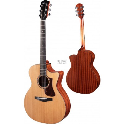 Eastman AC122-2CE-CD, solid Cedar top, solid Sapele back and sides, fishman pickup, incl. gigbag