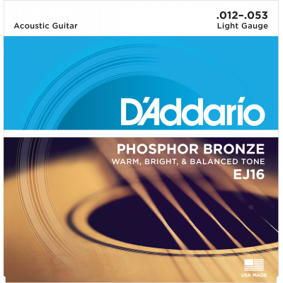 DAddario EJ16 Phosphor Bronze light 012-053
