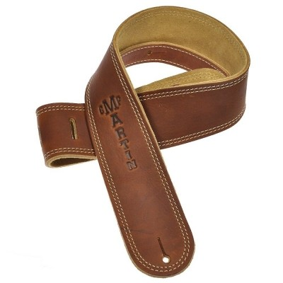 Martin Ball glove leather/suede guitar strap 18A0012 Brown