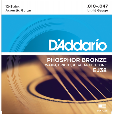 DAddario EJ38 Phosphor Bronze 12-String Light 010-047