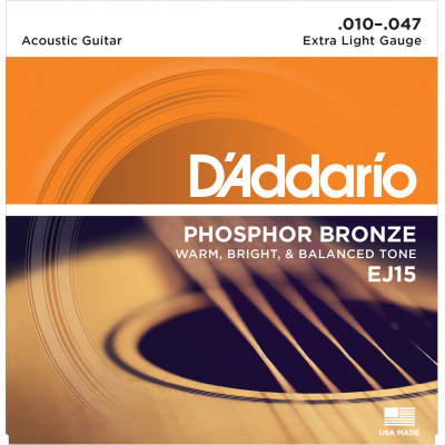 DAddario EJ15 Phosphor Bronze Extra Light Gauge 010-047