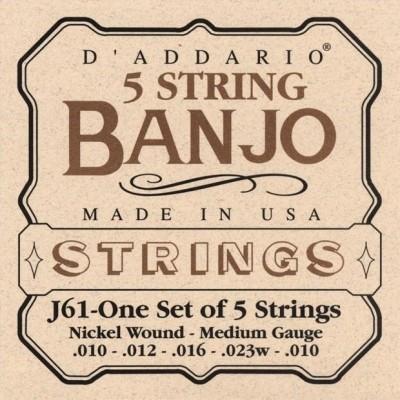 DAddario EJ61 Nickel 5 String Banjo