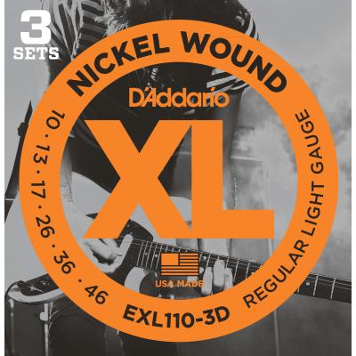 DAddario EXL110-3pack