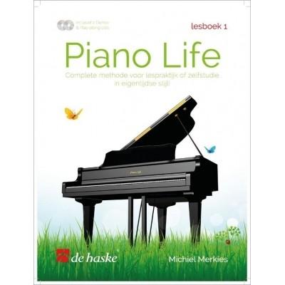 Piano Life Lesboek 1 + CD - Michiel Merkies